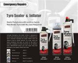 Autoreifen-Reparatur-Abdichtmasse und Luftpumpe