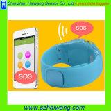 子供のSosボタンアラームを追跡するスマートな携帯電話の腕時計GPSの位置