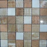 Mattonelle di pavimento Polished di colore del materiale da costruzione del mosaico Mixed della pietra (FYSSC207)