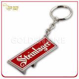 Verkaufsschlager prägte Firmenzeichen-Mattnickel-Ende-Metallschlüsselring
