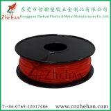 Cor vermelha do filamento fluorescente da impressora do PLA 3D
