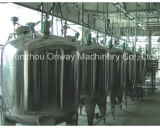 Pl de Emulgering die van het Jasje van het Roestvrij staal het Mengen van de Olie van de Tank Kosmetische het Mengen zich van de Oplossing van de Suiker van de Mixer van de Machine Machine mengen