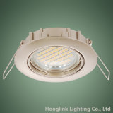 Satin-Nickel druckgegossene Aluminiumneigung vertiefte Deckenleuchte-Befestigung LED Downlight