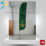 drapeau d'indicateur de plage de clavette de sublimation de la publicité extérieure de 2.5m3.5m4.8m