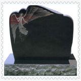 Monumento chinês da lápide do mármore do granito (anjo e corações)