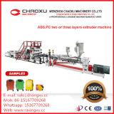 ABS-PC Zwei-Schichten Gepäck-Plastikextruder-Maschinerie-niedriger Preis von China