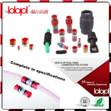 Conetores do HDPE para o cabo ótico da fibra de Blowning do ar, conetor reto protegido