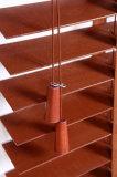 """2 """" Zonneblinden Basswood van het Decor van de Ladder van de Band van de Kantelhaak van het Koord de Binnenlandse Horizontale"""