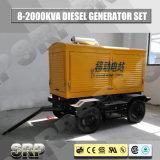 トレーラーの水によって冷却されるエンジンSdg110wstを搭載する移動式ディーゼル発電機セット