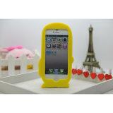 Het in het groot 3D Leuke Geval van Cellphone van het Silicone van het Beeldverhaal Minion voor iPhone