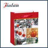 Лоснистый прокатанный мешок подарка руки способа рождества бумаги цвета слоновой кости бумажный