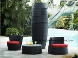 Insieme della presidenza del vaso del rattan del PE della mobilia del giardino