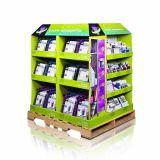 Étalage lourd d'étagère de papier de carton de 4 côtés pour des épices