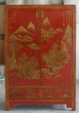 Chinees Antiek Meubilair Geschilderd Kabinet