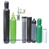 cilindro di ossigeno dell'acciaio senza giunte di uso medico 5L 150bar/200bar