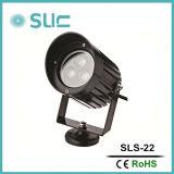 C.C extérieur 12V de dispositif de projecteur d'horizontal de lampe de jardin de lumière de pelouse de 9W DEL chauffent les lumières 100% imperméables à l'eau extérieures blanches pour le mur, illumination de ville