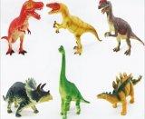 プラスチックビニールの恐竜のおもちゃの漫画図