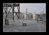 鋼鉄床のプラットホームの格子