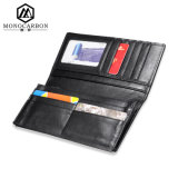 Фабрика Handmade Fashion Genuine Leather Wallet с Carbon Fiber