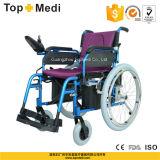 Topmedi faltbare Aluminiumleistung-elektrischer selbstangetriebener Rollstuhl