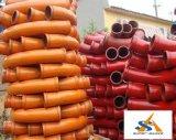 Труба конкретного насоса в частях конструкции запасных