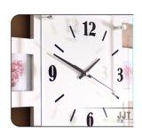 나무로 되는 장식적인 벽시계 창조적인 액자 벙어리 전자 시계 선물