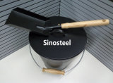 Benna & fughe del carbone del metallo, Hod del carbone, benna antica del carbone con il coperchio & pala