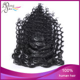 Sale caldo Hair brasiliano Deep Wave Clip in Hair Extension