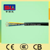 Fio flexível do núcleo do cabo elétrico 3 do PVC do cobre da baixa tensão