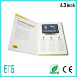 4.3 Inch LCD Screen Christmas Brochure für Business und Gift