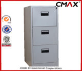 Cabinet de aço 3-Drawers Filing Cabinet Metal Vertical File Storage Office Cabinet Cmax-Fd03-001