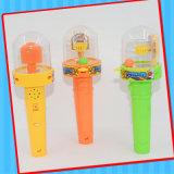 Lumière en plastique de Musica de sucrerie de jouet de panier de pousse
