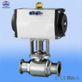Robinet à tournant sphérique pneumatique sanitaire avec la conformité d'OIN 3A de la CE
