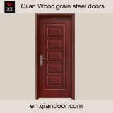 Деревянным дверь гальванизированная зерном стальная с картинами