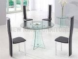 Tabela de jantar de madeira moderna da tabela de cozinha com a cadeira da sala de estar do sofá (NK-DTB030)