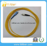 9/125 corde de pièce rapportée unimodale duplex de la fibre Sc-Rue