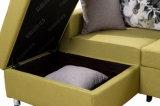 Bâti de sofa faisant le coin de tissu, trois jeux, meubles à la maison, jeux de sofa de salle de séjour, sofa de mémoire