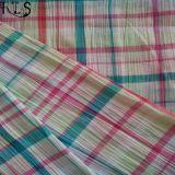 Baumwollcheck-Seersucker gesponnenes Garn gefärbtes Gewebe für Hemden/Kleid Rls50-22se