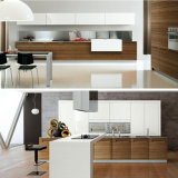 高品質のヨーロッパ式の木製のベニヤの食器棚