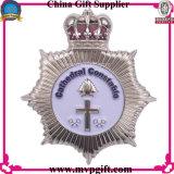 Insignia de la policía de cobre amarillo / de cobre para la insignia del Pin de metal