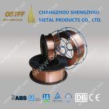 alambre de soldadura revestido de cobre de MIG del acero de carbón de 0.045inch Er70s-6 en carretes del acero 15kg