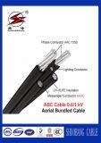 Cable liado aéreo de la baja tensión del cable del ABC del LV