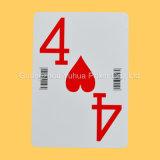 Póquer enorme feito sob encomenda do código de barras do póquer do deslocamento predeterminado dos cartões de jogo