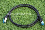 1m Cat5e blindado de la hoja de par trenzado (FTP) Cables de empalme W / moldeado botas 5 colores opcionales