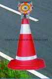Het LEIDENE van de Verkeersveiligheid Opvlammende ZonneLicht van de Waarschuwing voor de Kegel van het Verkeer