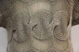 Robe tricotée par câble de chemise de chapeau de femmes