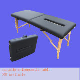 휴대용 나무로 되는 척추 교정 테이블 안마 테이블 검사 테이블