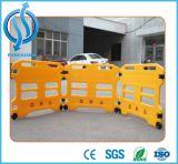 Barreira plástica expansível amarela do tráfego