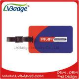 Tag relativo à promoção plástico da bagagem do PVC 3D da alta qualidade