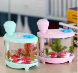 Schreibtisch-Miniaquarium-Lampen-Befeuchter mit unterschiedlicher Farbe